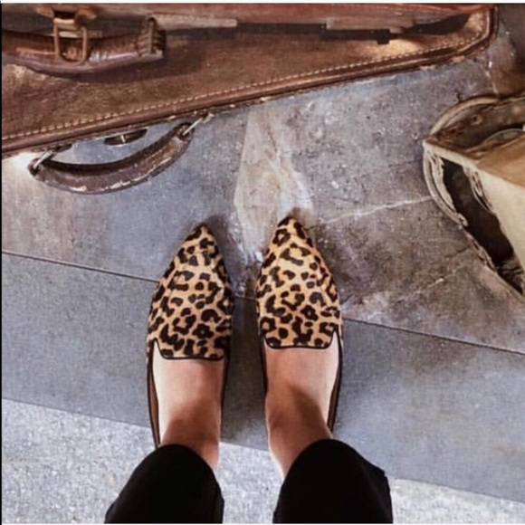 Franco Sarto Leopard Calf Hair Mules